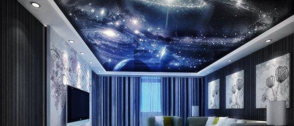 Įtempiamos lubos žvaigždėtas dangus 2019
