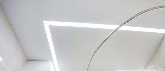 LED Įtempiamos lubos