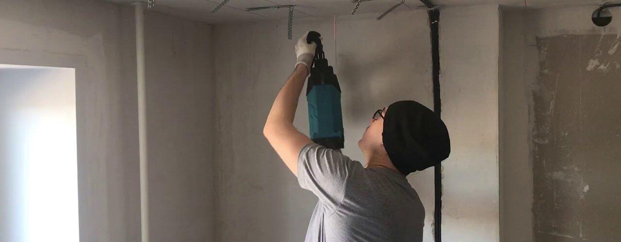 įtempiamų lubų elektros instaliacijos darbai