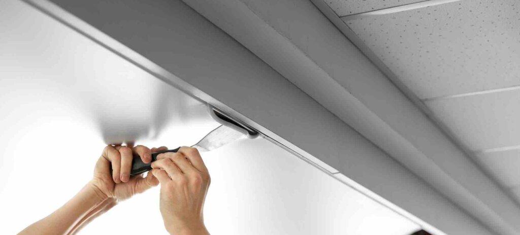 Įtempiamų lubų montavimas
