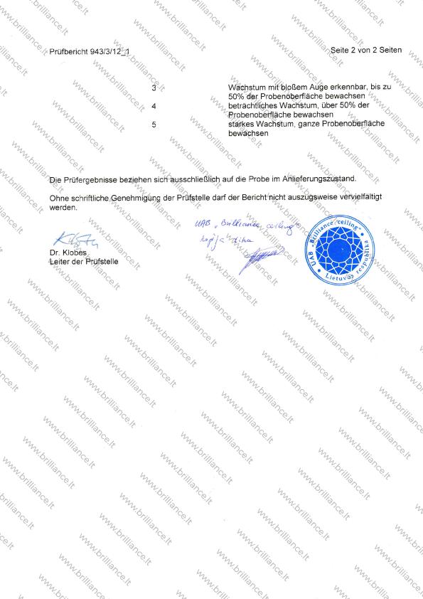 Įtempiamų lubų sertifikatas titv puslapis 2