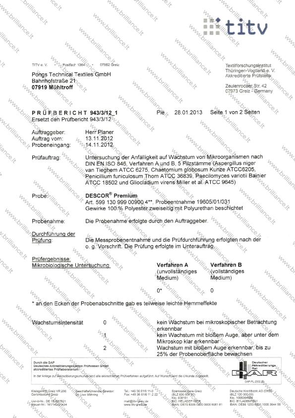 Įtempiamų lubų sertifikatas titv